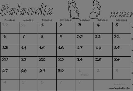 mėnesio variantai