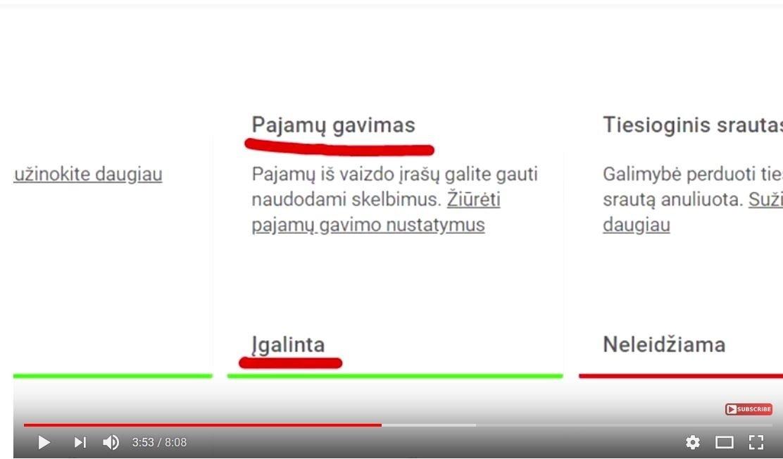 vaizdo įrašų pagalba užsidirbti pinigų internete